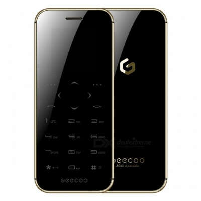GEECOO MINI 1 Thinnest Touch-Button Double Sided Mirror Feature Phone - Black