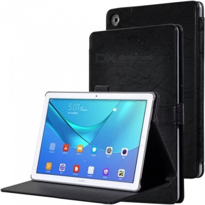 Protective PC + PU Full Body Case Cover with Stand for HUAWEI M5 PRO Tablet 10.8 inch - Black