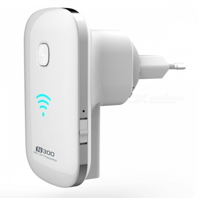 300Mbps Best Wireless Wi-Fi Repeater Signal Amplifier Wi-Fi Range Extender - White