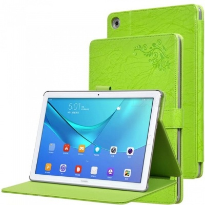 Protective PC + PU Full Body Case Cover with Stand for HUAWEI M5 PRO Tablet 10.8 inch - Green