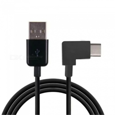 MAIKOU 90 Degree Right Angled USB 2.0 to Type-C Cable - Black (100cm)