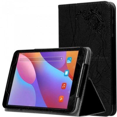 """Anti-Drop Non-Slip Leather Sleeve Case Cover with Holder Functuon for CHUWI Hi8 AIR, 8"""" Tablet PC - Black"""