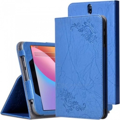 """Anti-Drop Non-Slip Leather Sleeve Case Cover with Holder Functuon for CHUWI Hi8 AIR, 8"""" Tablet PC - Blue"""