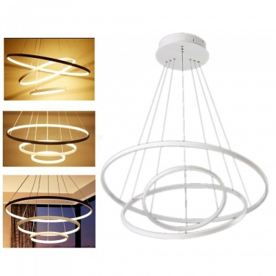 ZHAOYAO Modern Minimalist Nordic Style Circular LED Chandelier for Dining Room - Warm White Light
