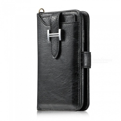Measy Fashionable PU Leather Wallet Style Case for Samsung Galaxy Note 8 - Black