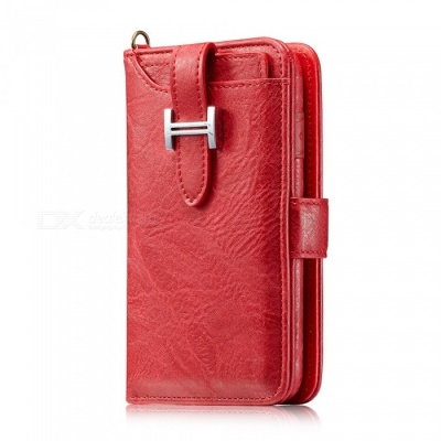 Measy Fashionable PU Leather Wallet Style Case for Samsung Galaxy Note 8 - Red