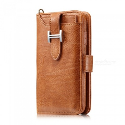 Measy Fashionable PU Leather Wallet Style Case for Samsung Galaxy Note 8 - Brown