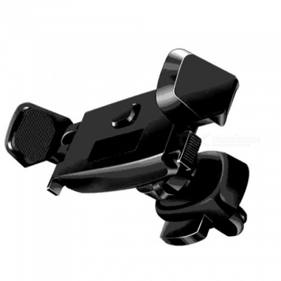 Car Air Vent Mount Holder Stand with 360 Degree Rotation for IPHONE Series, GPS, Mobile Phone - Black