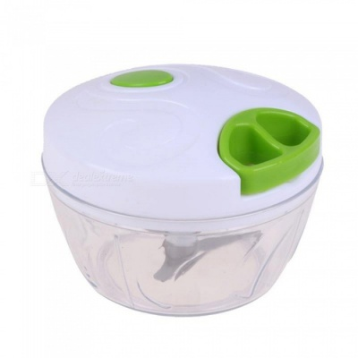 Measy Multi-functional Household Vegetable Chopper Shredder Food Meat Processing Crusher Blender - White