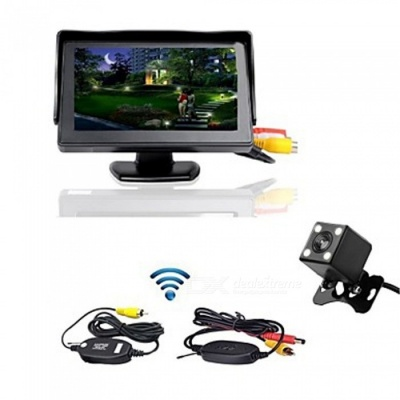 4.3 Inch Monitor + Wireless 170 Degree HD Car Rear View Camera + High-Definition Wide Angle Waterproof CMOS Camera
