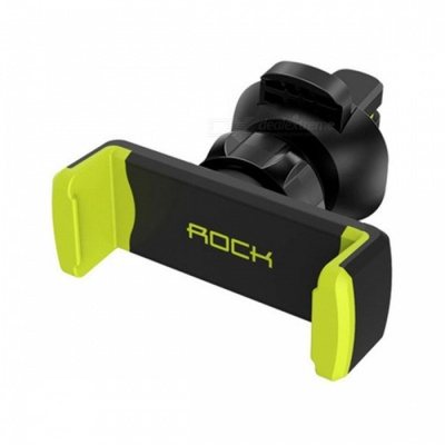 ROCK Adjustable ABS Universal Car Holder Air Vent Mount Stand for 4-6 Inches Phones Devices - Green