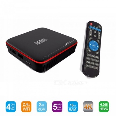 MECOOL M8S PRO W Android 7.1 TV Box Amlogic S905W CPU Quad Core 2GB RAM DDR4 16GB S905W Smart Tv Box Quad Core Set-Top B EU Plug/Black