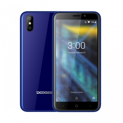 """DOOGEE X50 5.0"""" Full Screen Android GO (Based on Android 8.1) 3G Phone w/ 1GB RAM, 8GB ROM - Blue"""