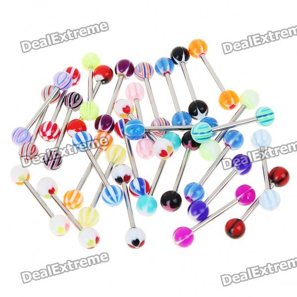 Tongue Studs Set - Color Assorted (30-Pack)