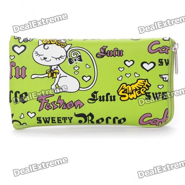 Sweety Belle PU Leather Pouch Bag for Cell Phone/Gadgets (Green)