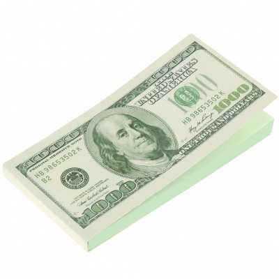 US Dollar Style Sticky Note Memo Pad (100-Sheet)