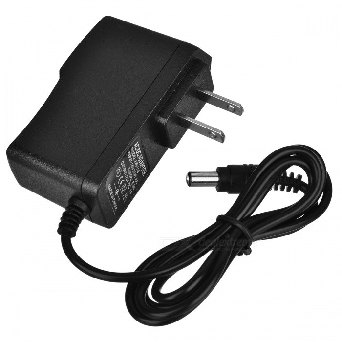 Replacement 5.5mm 2.1mm DC 12V 1A Power Adapter Supply - Black