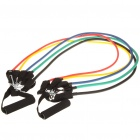 Fitness Exercise Training Latex Elastic Pull Ropes with Accessories (Set of 5)