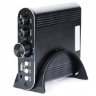 50W Audio Digital Power Amplifier MP3 Player with USB Host/AUX - Black