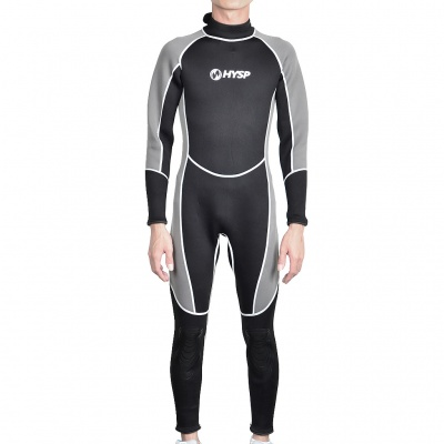 Fashion Long Sleeves Surfing Suit - Black + Grey (Size M)