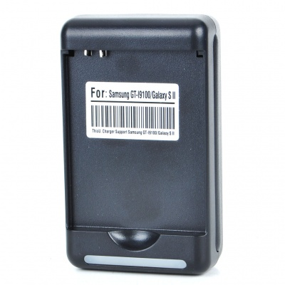 EU Plug Battery Charger for Samsung i9100 Galaxy S2 - Black (100~240V)