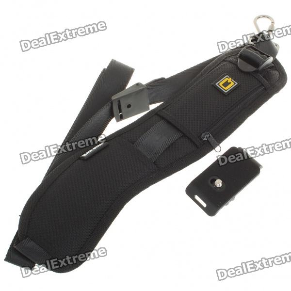 Quick Strap Shoulder Strap for SLR/DSLR Cameras - Black
