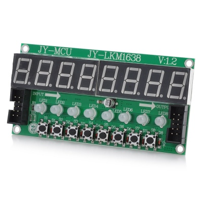 8X Seven Segments Display + 8X Key + 8X 2-Color LED Module for Arduino