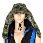 Dual Use Military Cotton Hat with Detachable Shawl - Woodland Camouflage