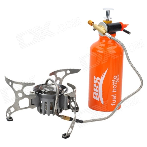 BRS-8 Multi-Functional Oil/Gas Stove - Silver + Orange