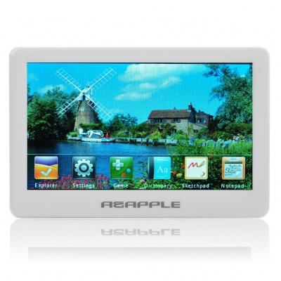 "4.3"" TFT Touch Screen MP5 Media Player with FM/TF/TV-Out - White (4GB)"