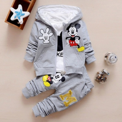 Autumn Baby Girls Boys Clothes Sets Cute Infant - Gray /7-9 Months