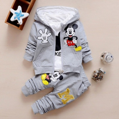 Autumn Baby Girls Boys Clothes Sets Cute Infant - Gray / 10-12 Months