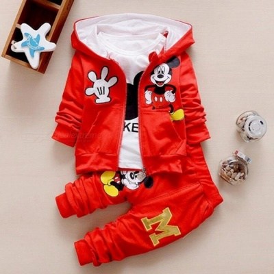 Autumn Baby Girls  Boys Clothes Sets Cute Infant - Red / 4-6 Months