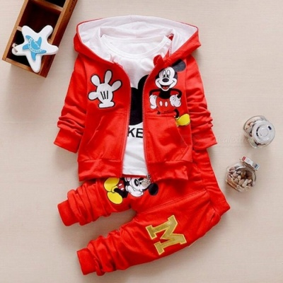 Autumn Baby Girls Boys Clothes Sets Cute Infant - Red / 13-18 Months