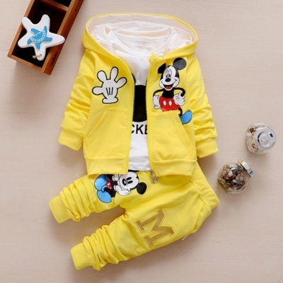 Autumn Baby Girls Boys Clothes Sets Cute Infant - Yellow / 7-9 Months
