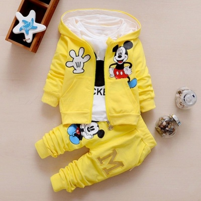 Autumn Baby Girls  Boys Clothes Sets Cute Infant Yellow / 10-12 Months