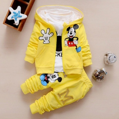 Autumn Baby Girls  Boys Clothes Sets Cute Infant Yellow / 13-18 Months