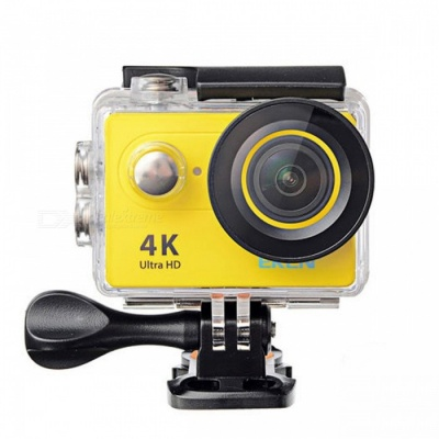 H9 Action Camera Ultra HD 4K WiFi 1080P/60fps 2.0 LCD Screen - Yellow