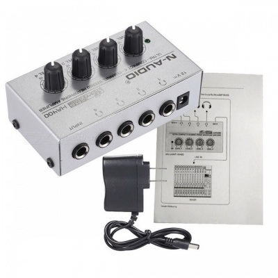 HA400 4-Channel Mini Audio Stereo Headphone Amplifier - US Plug