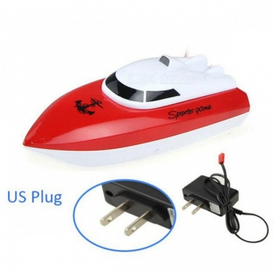 Radio Control RC 4 CH Waterproof Mini Speed Boat Airship - Red/US