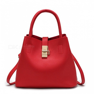 PU Leather Fashion Women's Handbag - Red