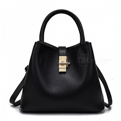 PU Leather Fashion Women's Handbag - Black