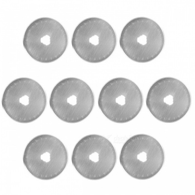 10Pcs SKS-7 45mm Rotary Cutter Blades - Silver