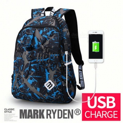 Portable Backpack with USB Port for Men Women - Dynamic Planet USB