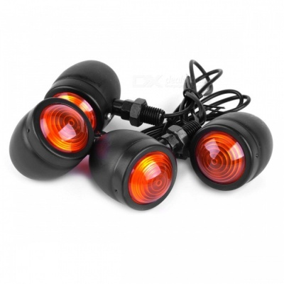 Motorcycle Bullet Style Turn Signal Indicator Light for Harley - 4PCS