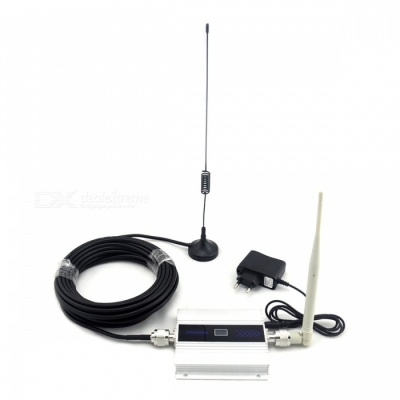GSM Mobile Phone Signal Booster with Antenna Full Set - White