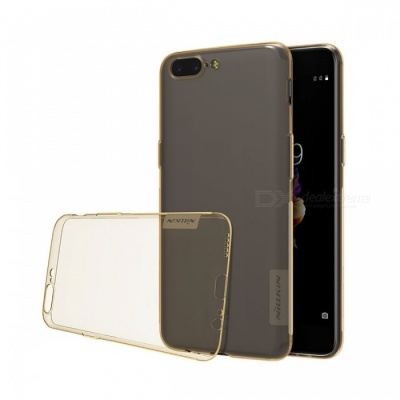Nillkin Nature Series Clear Silicon Back Cover TPU Case for Oneplus 5 - Transparent Brown