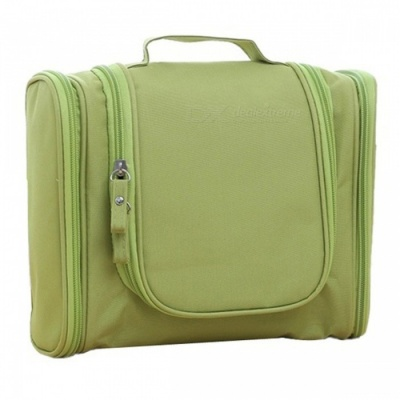 Large Hanging Travel Toiletry Bag Wash Makeup Organizer Pouch - Army Green