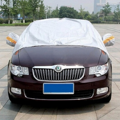 PEVA Car Sun Snow Shield Shade, Auto Front Windscreen Rain Frost Dust Proof Car Cover