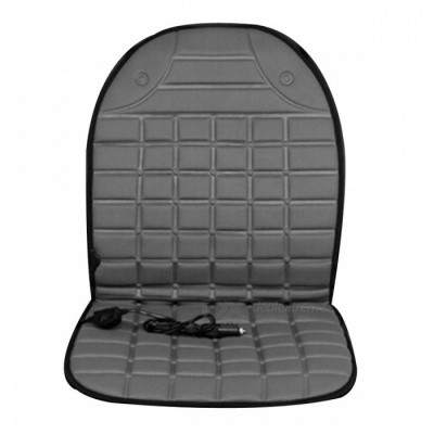 Universal Electric Heated Car Seat Cover Cushion Pad for Winter - Gray